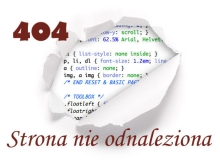 Błąd 404: strona nie odnaleziona